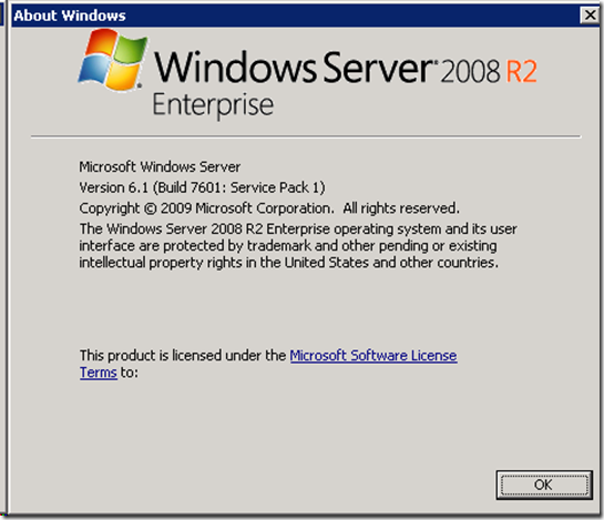 Version    6.1.7601 Service Pack 1 Build 7601