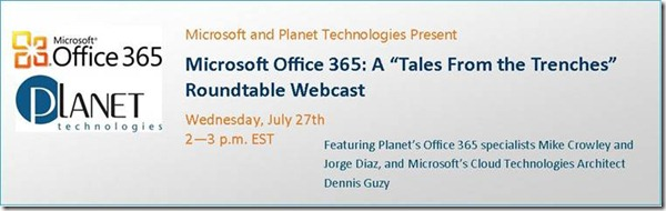 Register for the 7/27/11 Webcast!