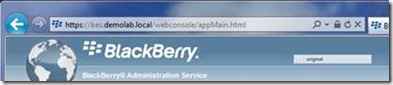 BlackBerry Administrative Service