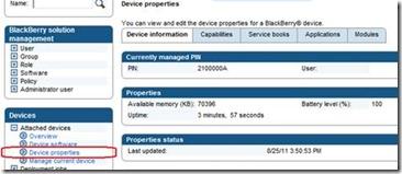 BAS Device properties