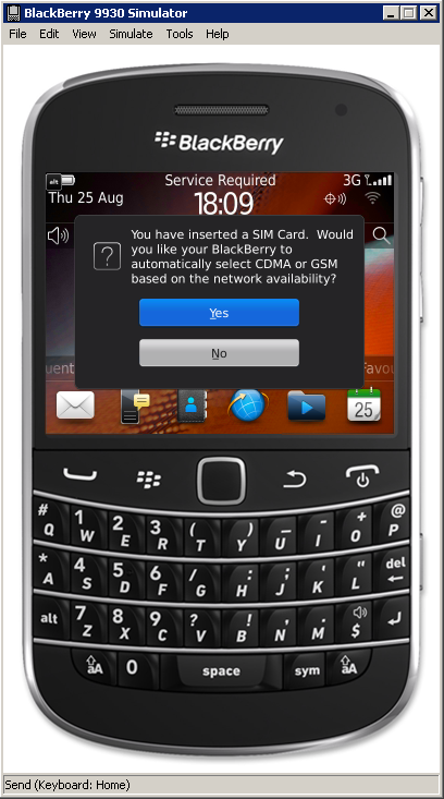 How to Connect the BlackBerry Device Simulator to a