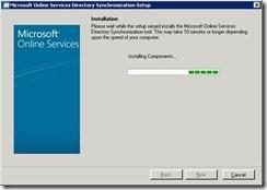 DirSync Install Screenshots