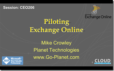 Piloting Exchange Online