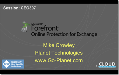 Forefront Online Protection for Exchange