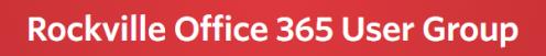 Rockville Office 365 User Group