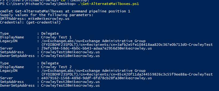 Get-AlternateMailboxes-Example